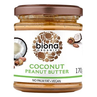 Unt de arahide cu cocos bio 170g Biona 0
