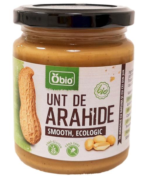Unt de arahide smooth bio 250g Obio 0