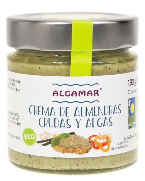 Unt de migdale cu alge raw bio 180g 0