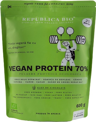Vegan protein 70%, pulbere functionala ecologica 0