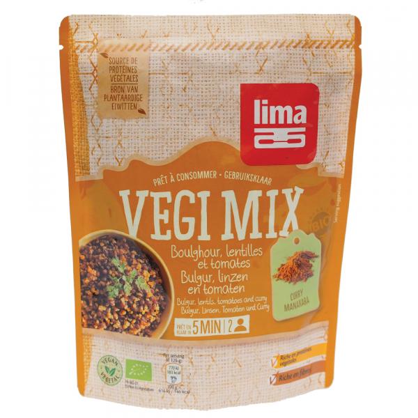 Vegi mix curry, bulgur si linte bio 250g 0