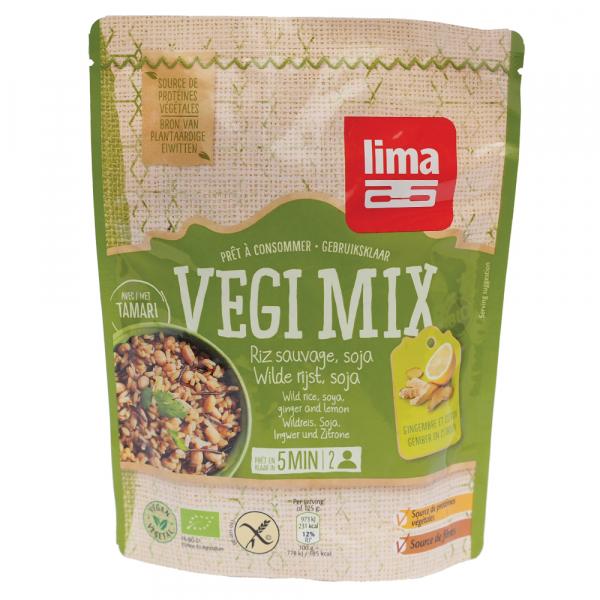 Vegi mix ghimbir, orez salbatic si soia bio 250g 0