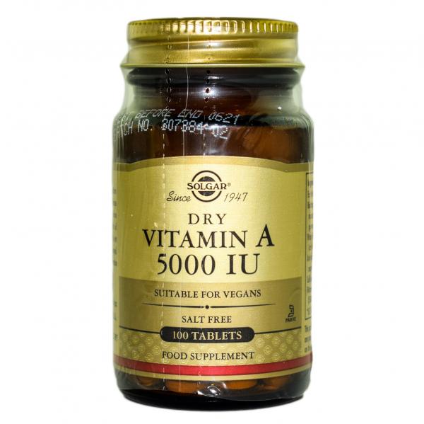 Vitamina A 5000 IU dry tabs 100cps SOLGAR 0