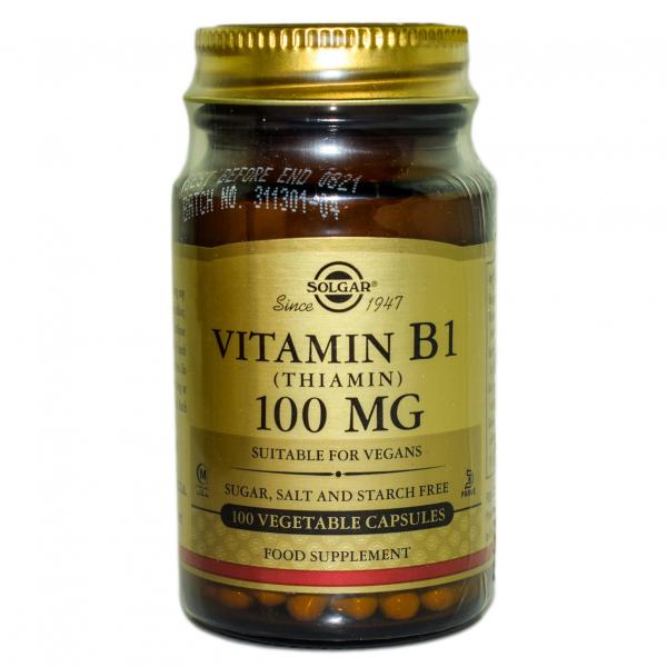 Vitamina B1 100mg veg.caps 100cps SOLGAR 0