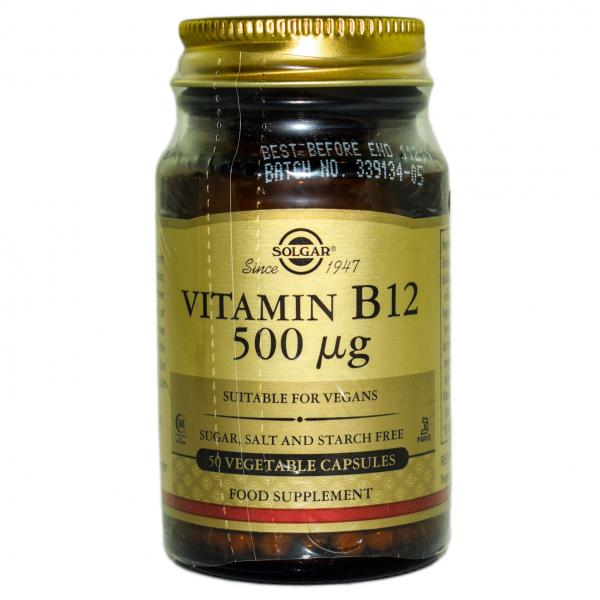 Vitamina B12 500mg veg.caps 50cps SOLGAR 0