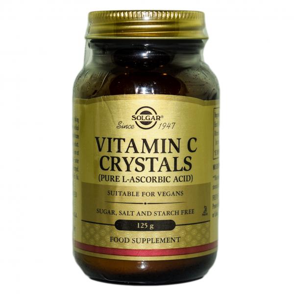 Pudra cristale de vitamina C, 125 g, Solgar 0