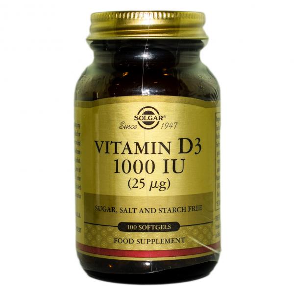 Vitamina D3 1000 IU capsule moi100cps SOLGAR 0