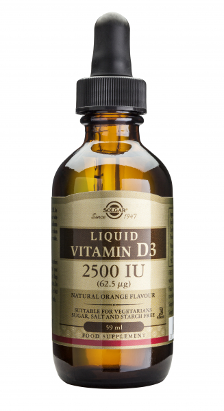 Vitamina D3 lichida  2500 IU  59ml SOLGAR 0