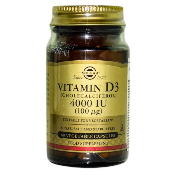 Vitamina D3 4000 IU veg. caps 60cps SOLGAR 0