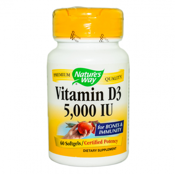Vitamina D3 5000 UI Nature's Way, 60 capsule 0