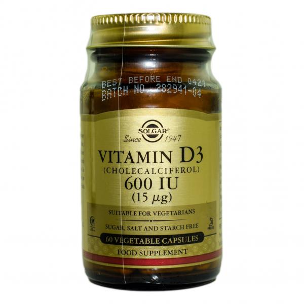 Vitamina D3 600 IU veg.60cps Solgar 0