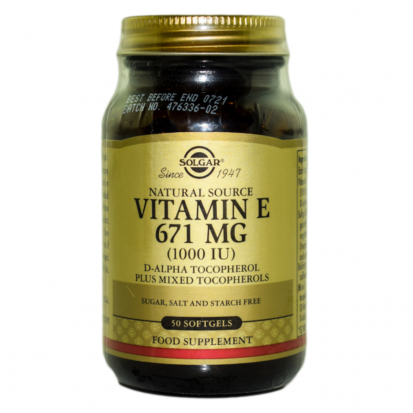 VITAMIN E 1000 IU softgels 50cps SOLGAR 0
