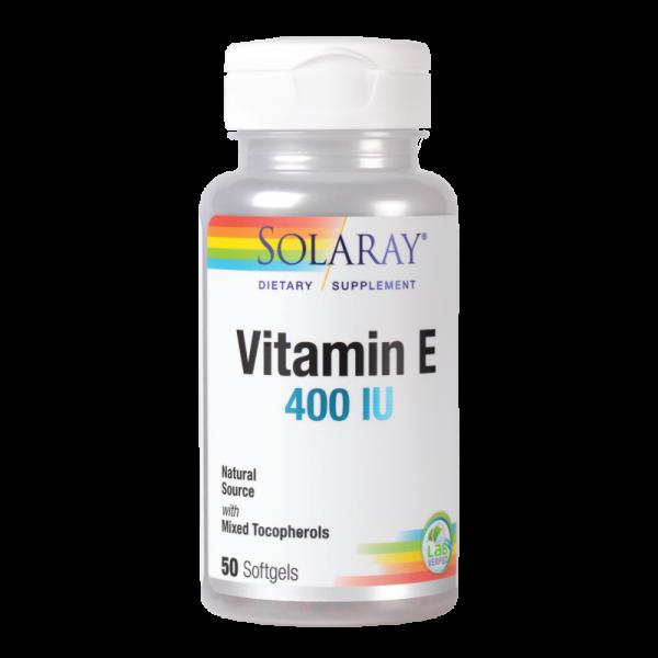 Vitamina E 400UI Solaray, 50 capsule 0