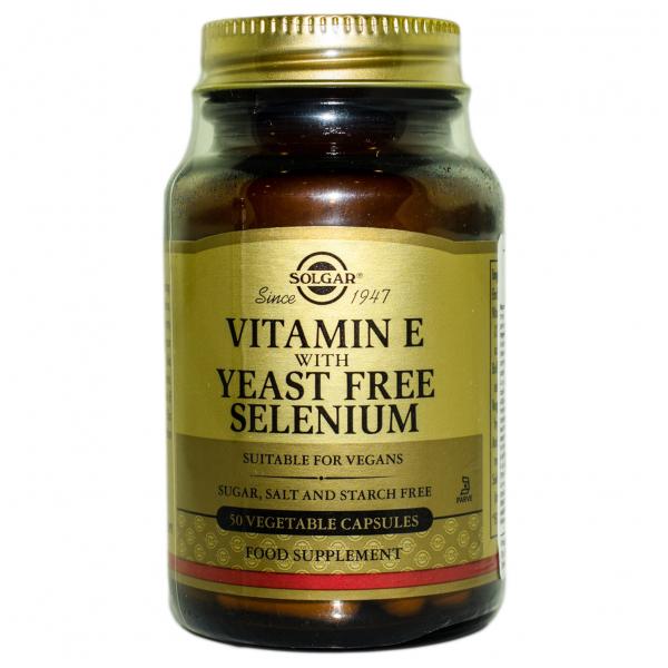 Vitamin E + Selenium  veg.caps 50cps SOLGAR 0