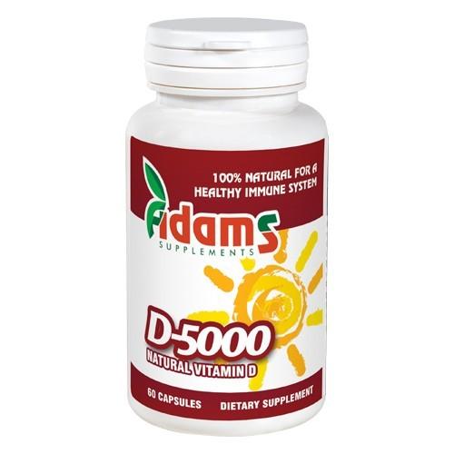 Vitamina D-5000, 60 tablete, Adams Vision 0