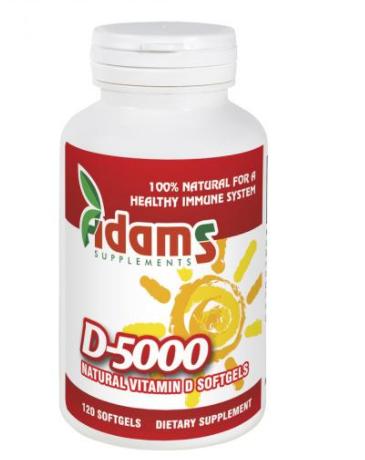 Vitamina d-5000 naturala 120cps 0