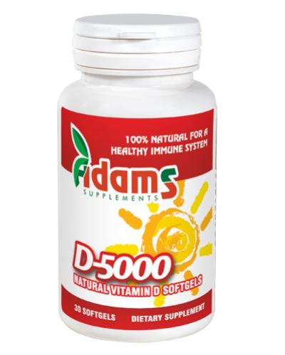 Vitamina D-5000, 30 capsule, Adams Vision 0