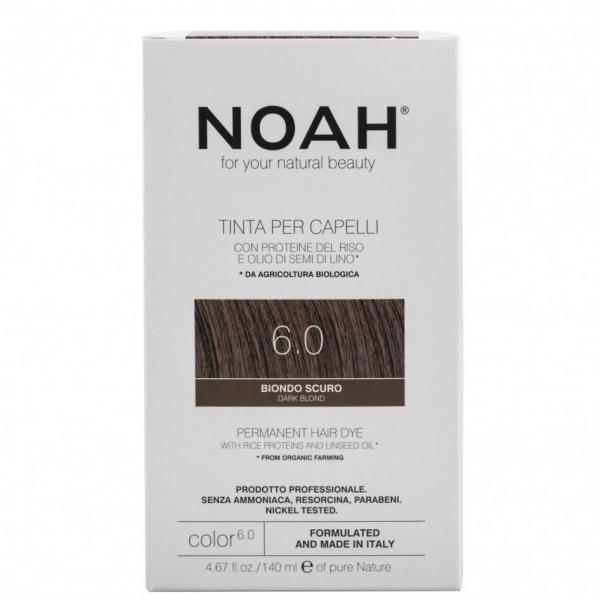 Vopsea de par naturala,Blond inchis, 6.0,Noah, 140 ml 0