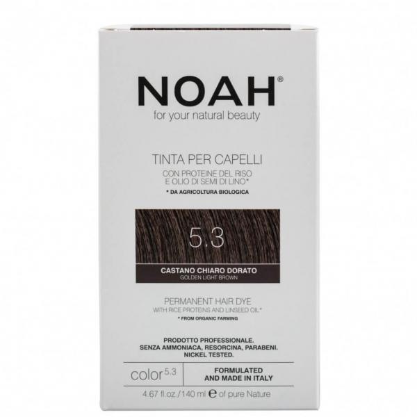 Vopsea de par naturala,Saten auriu deschis, 5.3, Noah, 140 ml [0]