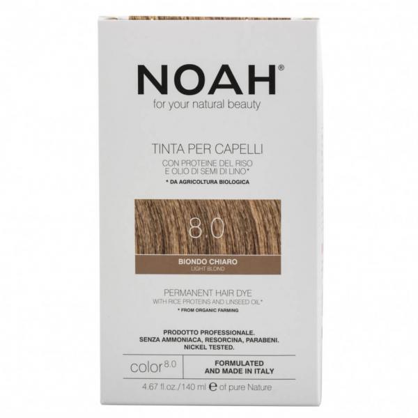 Vopsea de par naturala, Blond deschis,8.0, Noah, 140 ml [0]