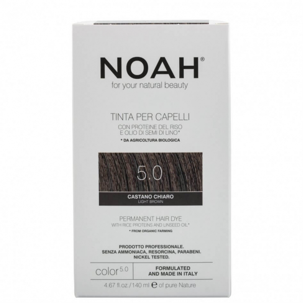 Vopsea de par naturala, Saten deschis 5.0, Noah, 140 ml [0]