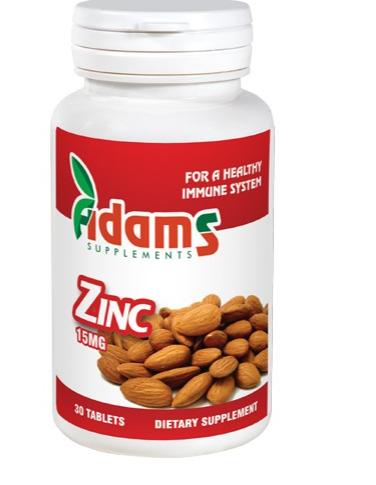 Zinc 15mg, 30 tablete, Adams Vision 1