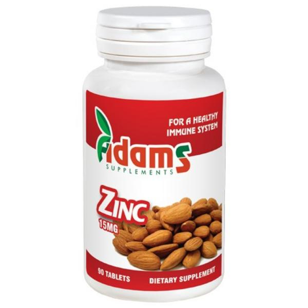 Zinc 15mg, 90 tablete, Adams Vision 0