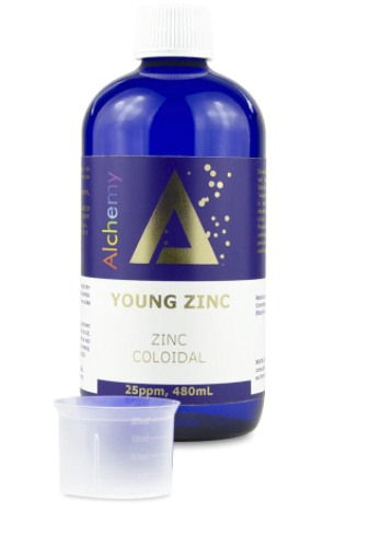 Zinc coloidal, Young Zinc, 25ppm, 480 ml, Aghoras Invent 0