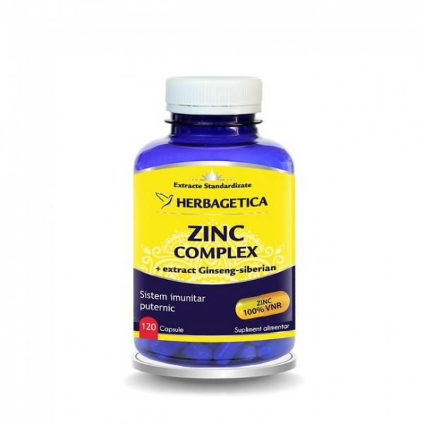 Zinc complex organic, 120 capsule, Herbagetica [0]