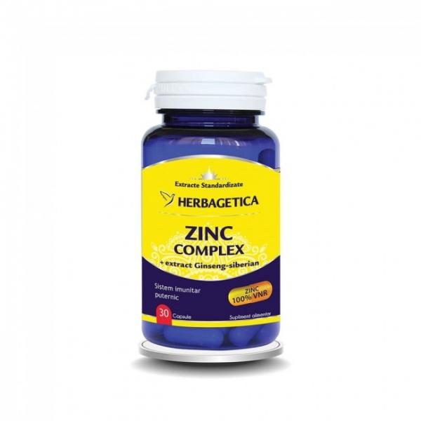 Zinc complex organic, 30 capsule, Herbagetica 0