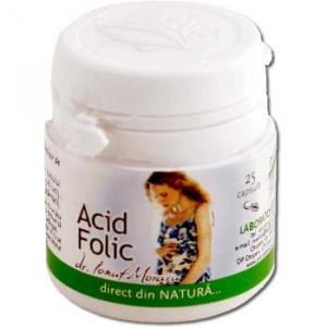 Acid folic, 25 capsule, Pro Natura0