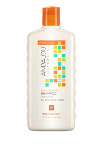 Șampon cu ulei de argan și unt de shea pentru păr uscat și deteriorat Moisture Rich Andalou, 340 ml, Secom1