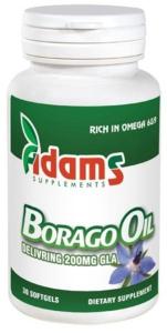 Borago oil 1000mg, 30 capsule, Adams Vision1