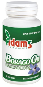 Borago oil 1000mg, 30 capsule, Adams Vision0
