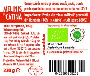 Miere cu catina 60% Bio, 230g, Melinis [1]