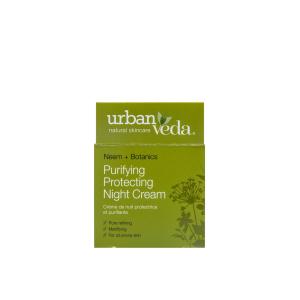 Crema de noapte protectiva cu ulei de neem- pentru ten gras, Purifying - Urban Veda, 50 ml [2]