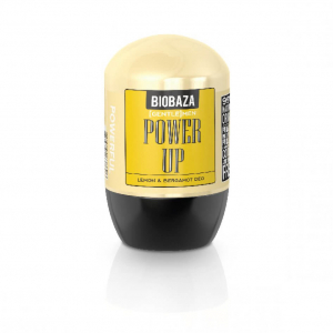 Deodorant natural pe baza de piatra de alaun pentru barbati POWER UP (lamaie si bergamota), Biobaza, 50 ml0