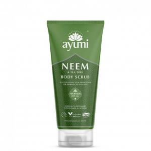 Exfoliant pentru corp cu Neem Tea Tree, Ayumi, 200 ml [1]