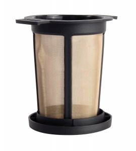 Filtru ceai permanent cu capac (negru) L1