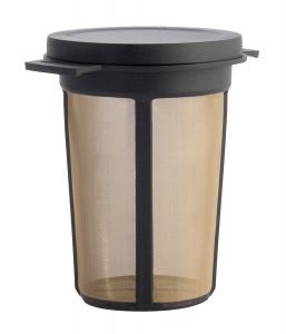 Filtru ceai permanent cu capac (negru) L0