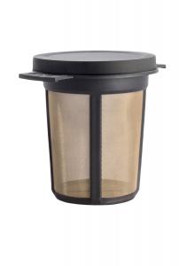 Filtru ceai permanent cu capac (negru) M0