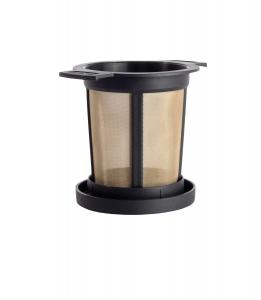 Filtru ceai permanent cu capac (negru) M1