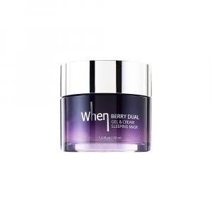Masca gel&crema regeneranta pentru noapte Travel size, 30 ml, When [0]