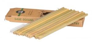 Set paie din bambus (10 bucati), galben2