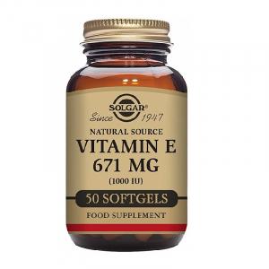Vitamina E din surse naturale 671mg 1000 UI, 50 capsule, Solgar [0]