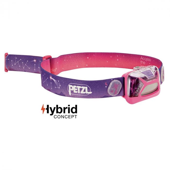 Lanterna frontala pentru copii petzl tikkid pink 0