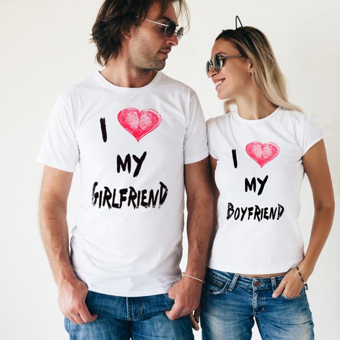 SET TRICOURI PERSONALIZATE - I LOVE MY GIRLFRIEND 0