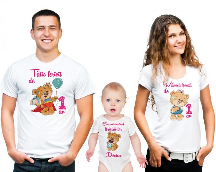 SET TRICOURI PERSONALIZATE FAMILIE NR.1 0