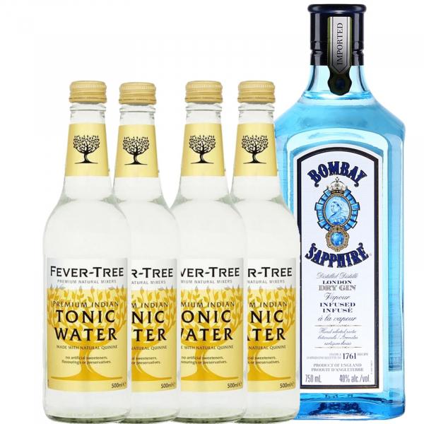 Pachet Bombay Saphire 0.7L & Premium Tonic Water Fever Tree 4X0.2L [0]