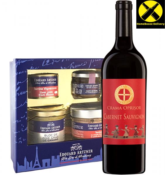 Cadou Gastronomic Artzner & Crama Oprisor Cabernet Sauvignon 0.75L [0]